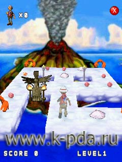 Игра для кпк 3D Volcano Island 1.1