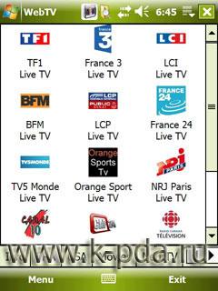 программа WebTV ля просмотра телепередачь на кпк