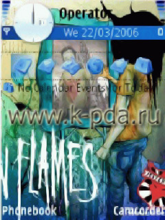 Тема для Nokia s60 nth InFlames